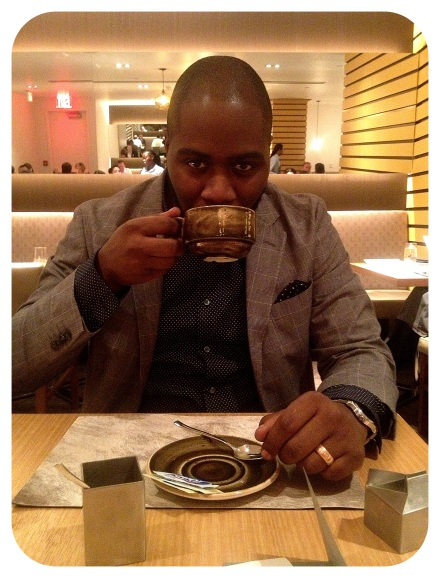 My very handsome Valentine and his dessert aka coffee. I won't judge...but, really though? Coffee?